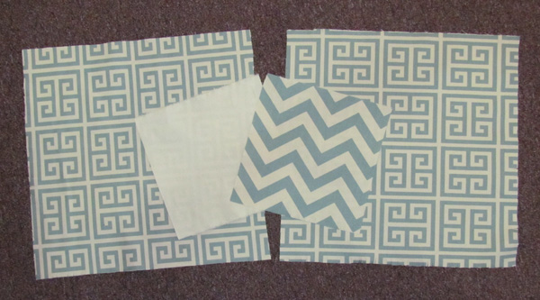 Chevron & Tribal design blue cotton canvas