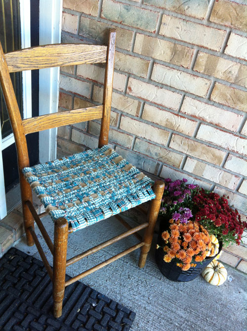 Merveilleux Homespun And Burlap Woven Chair Seat. Saturday ...