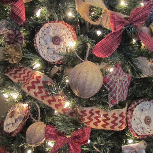 this ruffled burlap tree skirt anchored our picture perfect christmas - Burlap Christmas Decorations